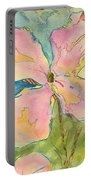 Honesty British Flower Painting Portable Battery Charger
