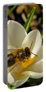 Honey Bee And Crocus Portable Battery Charger