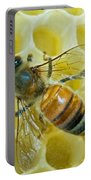 Honey Bee In Hive Portable Battery Charger