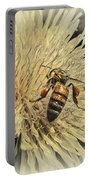 Honey Bee Meets Dandy Lion Portable Battery Charger
