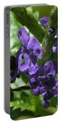 Honey Bee On Purple Flower Portable Battery Charger