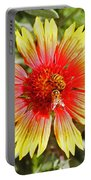 Honey Bees On Flower Portable Battery Charger