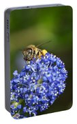 Honeybee On California Lilac Portable Battery Charger