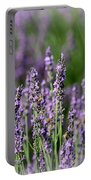 Honeybees On Lavender Flowers Portable Battery Charger