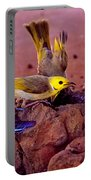 Honeyeaters Drinking Water Portable Battery Charger