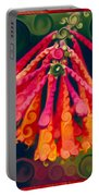 Honeysuckle Bloom In An Abstract Garden Painting Portable Battery Charger