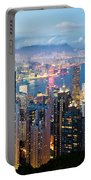 Hong Kong At Dusk Portable Battery Charger