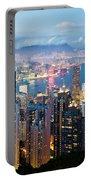 Hong Kong At Dusk Portable Battery Charger