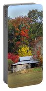 Horse And Barn In The Fall 3 Portable Battery Charger