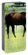 Horse And Flowers Portable Battery Charger
