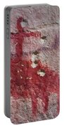 Horse And Rider Cave Painting Portable Battery Charger