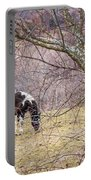 Horse And Winter Berries Portable Battery Charger