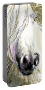 Horse Blowing In The Wind Portable Battery Charger