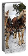 Horse Drawn Sleigh Portable Battery Charger by Edward Fielding