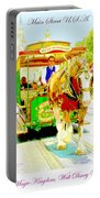 Horse Drawn Trolley Car Main Street Usa Portable Battery Charger