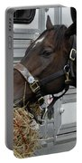 Horse Eating Hay Portable Battery Charger