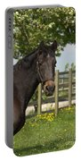 Horse In Spring Portable Battery Charger