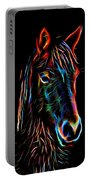 Horse On Black Portable Battery Charger