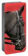 Horse On Red Portable Battery Charger