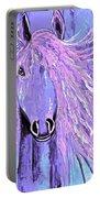 Horse Pale Purple 2 Portable Battery Charger