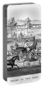 Horse Racing, C1869 Portable Battery Charger