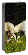 Horses Among Wildflowers Portable Battery Charger