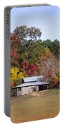 Horses And Barn In The Fall 2 Portable Battery Charger