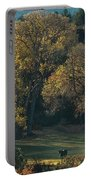 Horses In A Backlit Field With Fall Colored Trees Sedo Portable Battery Charger