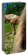 Horses In Meadow Portable Battery Charger
