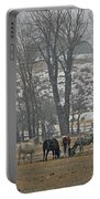 Horses In The Snow   #7940 Portable Battery Charger