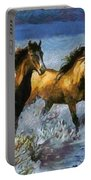 Horses In Water Portable Battery Charger