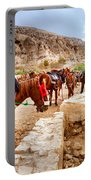 Horses Of Petra Portable Battery Charger