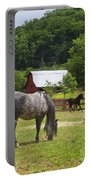 Horses On A Farm Portable Battery Charger