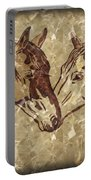 Horses On Marble Portable Battery Charger