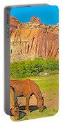 Horses On The Gifford Farm In Fruita In Capitol Reef National Park-utah Portable Battery Charger