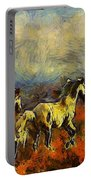 Horses On The Gogh Portable Battery Charger