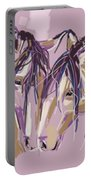 horses Purple pair Portable Battery Charger