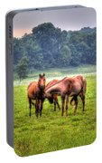 Horses Socialize Portable Battery Charger
