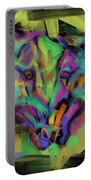Horses Together In Colour Portable Battery Charger