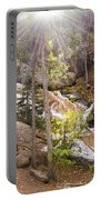 Horsethief Falls Sunburst - Cripple Creek Colorado Portable Battery Charger