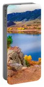 Horsetooth Lake Overlook Portable Battery Charger by Jon Burch Photography