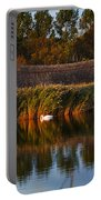 Horsey Mere On The Norfolk Broads On A Still Day In Autumn Portable Battery Charger