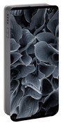 Hosta Leaves Bw Portable Battery Charger