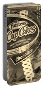 Hostess Cupcakes In Sepia Portable Battery Charger