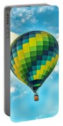 Hot Air Balloon Checkerboard Portable Battery Charger