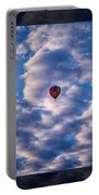Hot Air Balloon In A Cloudy Sky Abstract Photograph Portable Battery Charger