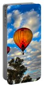 Hot Air Balloons Over Trees Portable Battery Charger