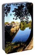 Hot Air Balloons Through Tree Portable Battery Charger