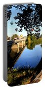 Hot Air Balloons Through Tree Portable Battery Charger by Carol Groenen