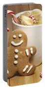 Hot Chocolate Toasted Marshmallows And A Gingerbread Cookie Portable Battery Charger